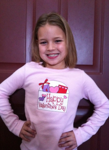 Custom Applique Valentine's Day Envelope Shirt