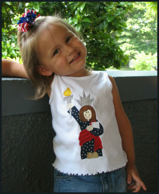 4th Of July Lady Liberty Patriotic Shirt