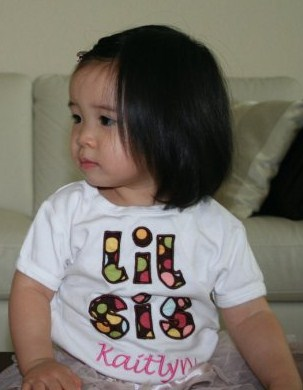Custom Lil Sis Applique Shirt