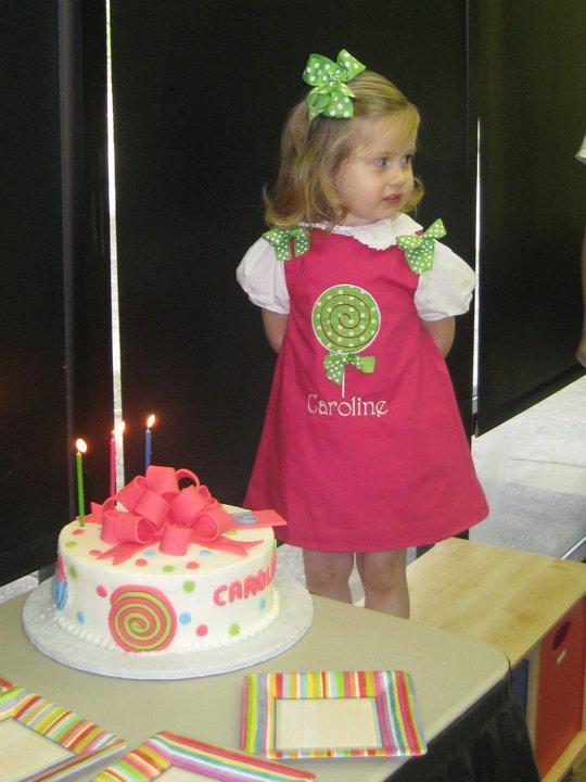 Custom Applique Lollipop Dress