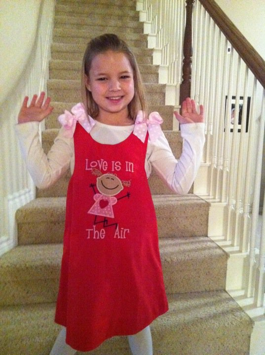 Custom Applique Valentine's Little Girl Dress
