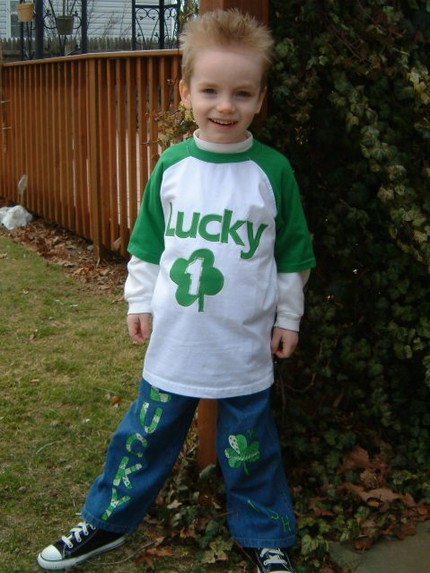 Custom Applique Lucky One St. Patty's Day Shirt