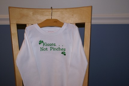 Custom St. Patty's Day Shirt- Kisses Not Pinches