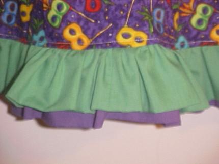 Custom Mardi Gras T-Shirt Twirl Dress
