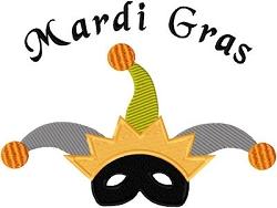 Custom Applique Mardi Gras Mask Shirt  (1)
