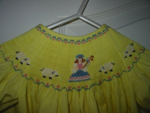 Custom Smocked Mary Had A Little Lamb Dress