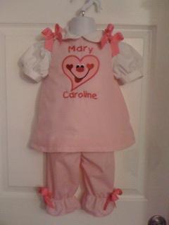 Applique Valentine's Day Heart Dress