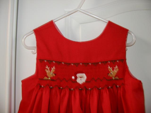 Custom Christmas Smocked Mary D Dress