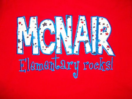 Custom McNair School Spirit Shirt