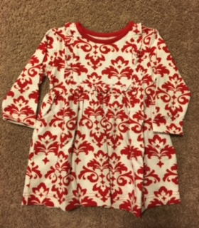 Kelly's Kids Ruffle Bib Dress Red/White
