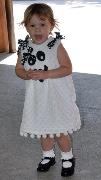 Custom Boutique Minky Dot Ghost Dress
