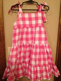 Kelly's Kids White and Pink Checked Dress