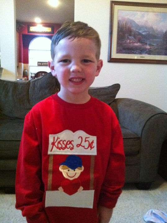 Custom Applique Kissing Booth Valentine's Shirt