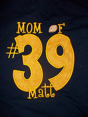 Mom Football Fan Applique Shirt