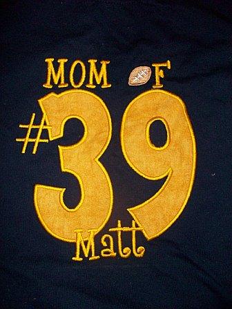 Mom Football Fan Applique Shirt