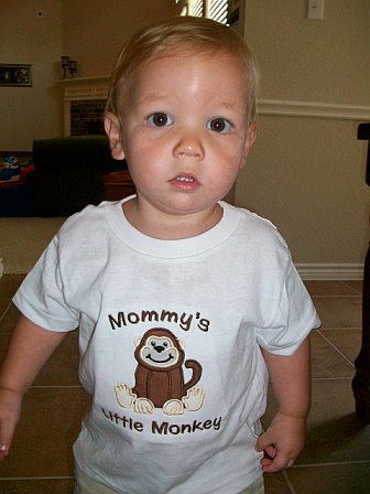 Mommy's Little Monkey Applique Shirt