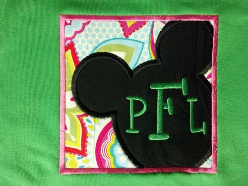 Custom Applique Initial Mouse Shirt