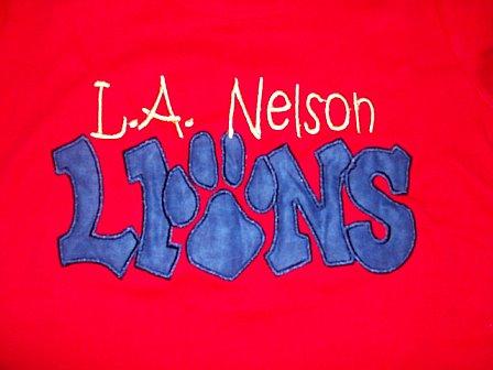 Custom L.A. Nelson Lions Shirt