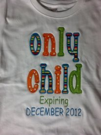 Custom Applique Only Child Big Sister Brother Shirt