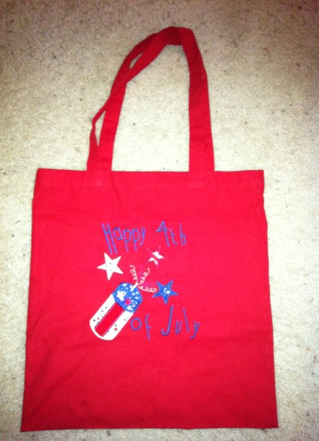 Custom 4th of July Parade Candy Bag
