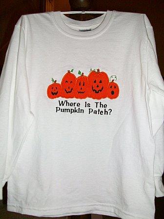 Where's The Pumpkin Patch Custom Applique Shirt