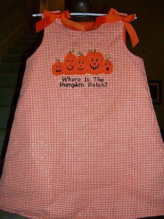 Where's The Pumpkin Patch Applique Dress