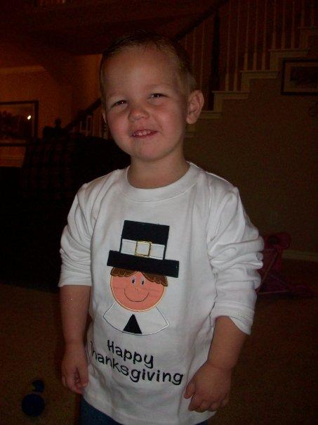Custom Thanksgiving Pilgram Boy Shirt