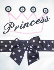 Custom Embroidered Princess Pillowcase Pink & Black