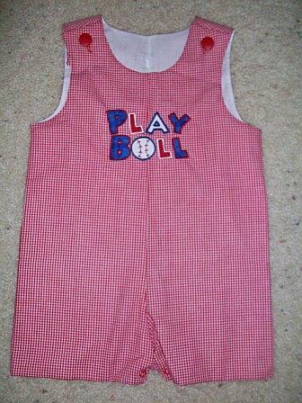 Custom Applique Baseball Jon Jon- Play Ball