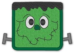 Little Monster Halloween Shirt Custom Applique