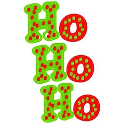 Custom HO HO HO Applique Shirt