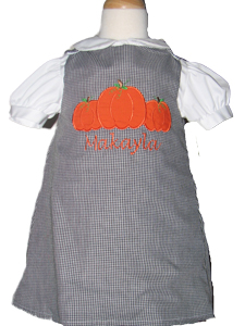 Custom Aline Pumpkins Dress (black gingham)