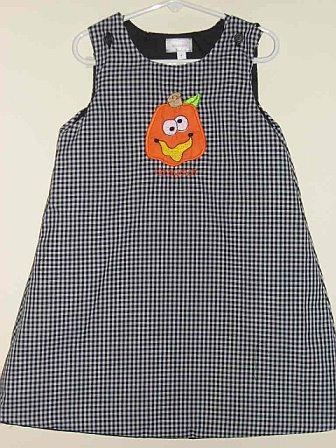 Custom Boutique Crazy Pumpkin Applique Halloween Dress