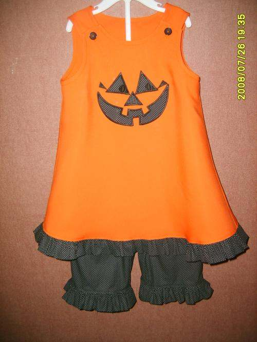 Custom Jack-o'-lantern Applique Halloween Set