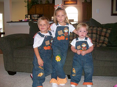 Pumpkin Patch Custom Applique Overalls