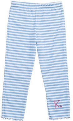 Kelly's Kids Girls Striped Lettuce Legging 3/4