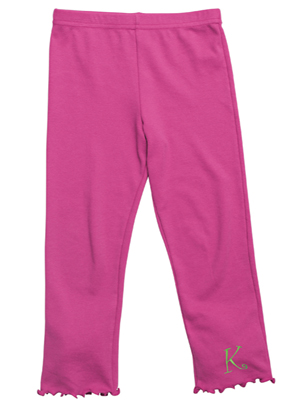 Kelly's Kids Girls Hot Pink Lettuce Legging