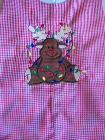 Christmas Reindeer Red and White Checked Longall
