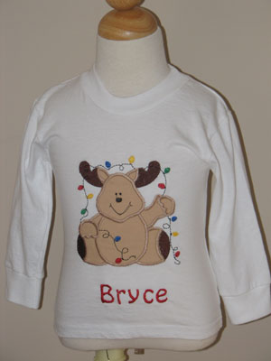 Custom Boutique Christmas Reindeer Tee