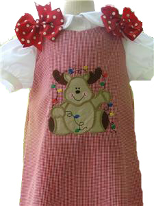 Custom Aline Reindeer Dress