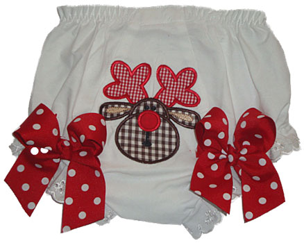 Christmas Reindeer Diaper Cover
