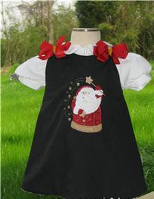 Custom Aline Santa Dress (black)