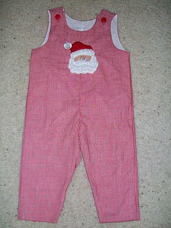 Custom Applique Santa Christmas Longall