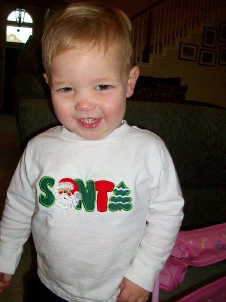 Custom Applique SANTA Christmas Shirt