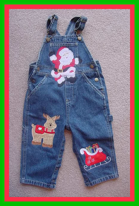 Applique Custom Christmas Overalls