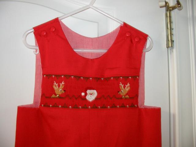 Custom Christmas Smocked Longall