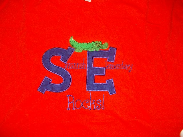 Savannah Elementary  Rocks with gator applique