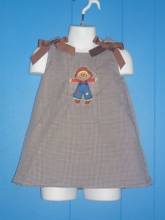 Custom Aline Scarecrow Applique Dress