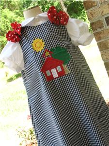 Custom School House Aline Dress