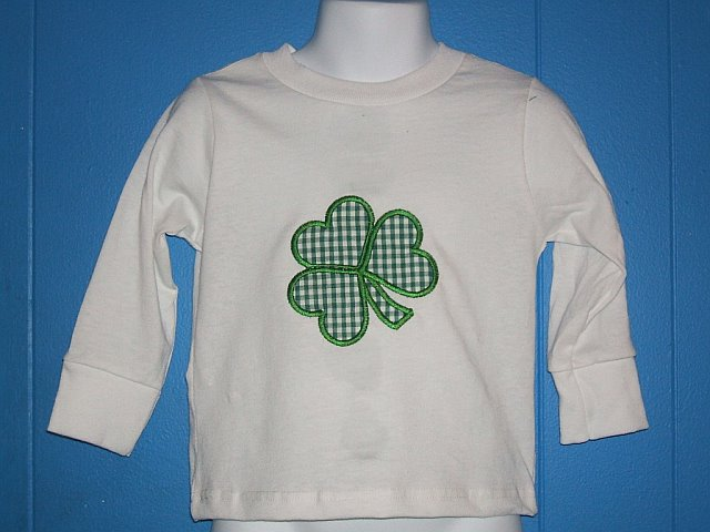 Custom Applique St. Patrick's Day Shamrock Shirt